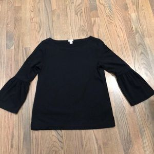 J. Crew bell sleeved top.